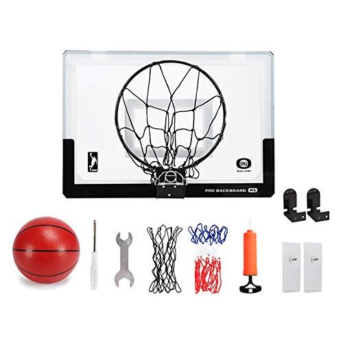 LXLA Canasta Baloncesto Juego de Aro de Baloncesto Plegable, Mini Juego de Tablero para Dormitorio/Oficina/Aula/Dormitorio, Incluye Soporte de Montaje en Pared y Kit de Fijación