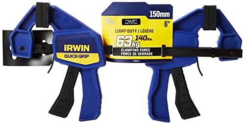IRWIN T5462EL7 - Abrazadera de tornillo de Quick-Grip Irwin, 150 mm de largo (6 ') - paquete con 2 piezas