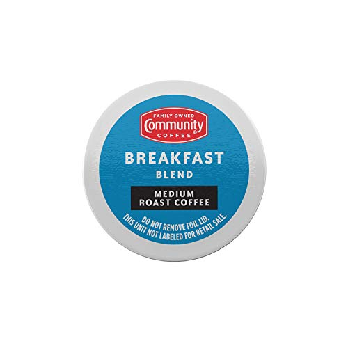 Community Coffee Breakfast Blend 80 Count Coffee Pods, Medium Roast, Compatible with Keurig 2.0 K-Cup Brewers, Box of 80 Pods