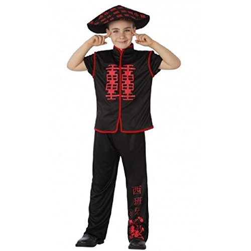 Atosa Disfraz de Chino Negro para niños