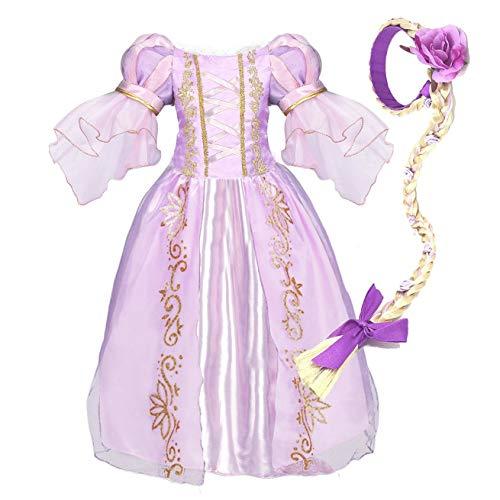 NNDOLL Costume Halloween Carnevale Sofia Vestito Bambina Principessa Abito(130/3-4 Anni)