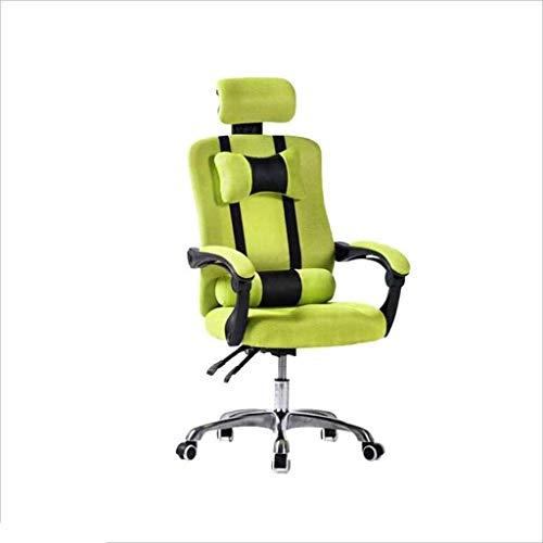 Sillas Gaming Silla Silla de Ordenador de Ministerio del Interior ergonomico elevacion de Silla giratoria Silla (Color : Green)