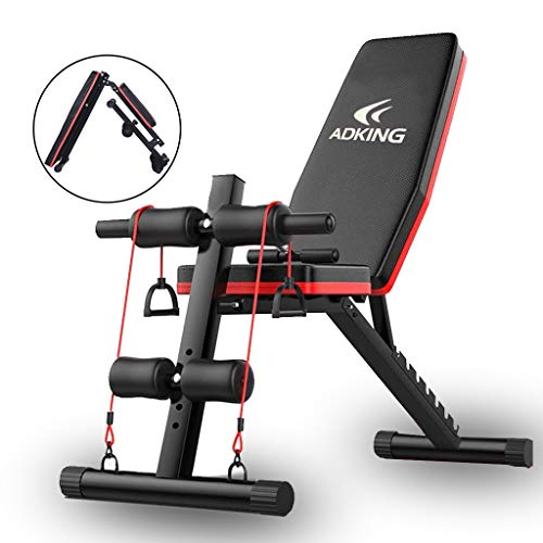 ADKING Adjustable Weight Bench Full Body Workout Incline Decline Exercise Workout Bench for Home Gym (Type-A)