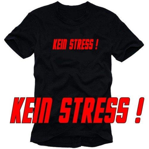 KEIN STRESS ! T-Shirt schwarz-orange Gr.L