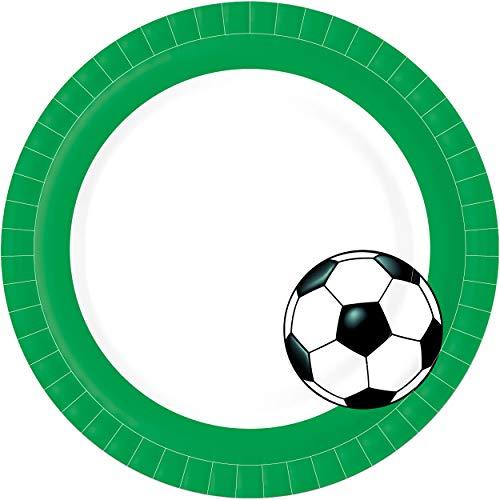 Duni Pappteller Fußball Bio Ø 22cm (10er Pack)