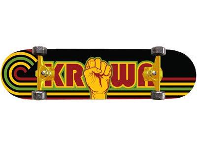 Krown Longboard Skateboard Rasta Potencia Pro 8.0