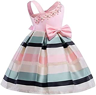 Toddler Children Girls Princess Dress Sleeveless Kids Baby Girl Flower Dress 2-10 Years