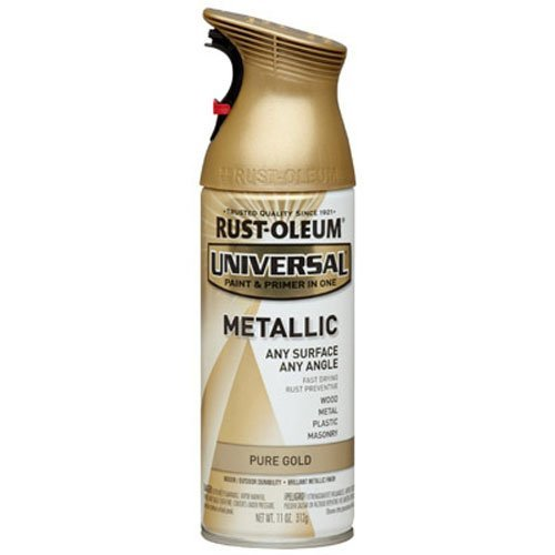 Rust-Oleum Pure Gold 245221 Universal All Surface Spray Paint, 11 oz, Metallic
