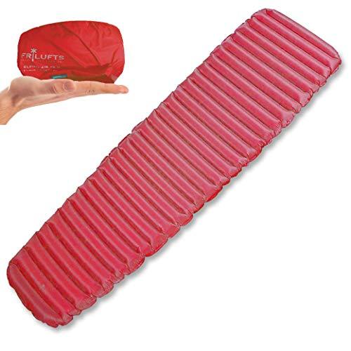 Frilufts ELPHIN AIR 6.0 Isomatte Luftmatratze Ultraleicht Thermolite Eco Matte Trekking 520 g (Rot L)