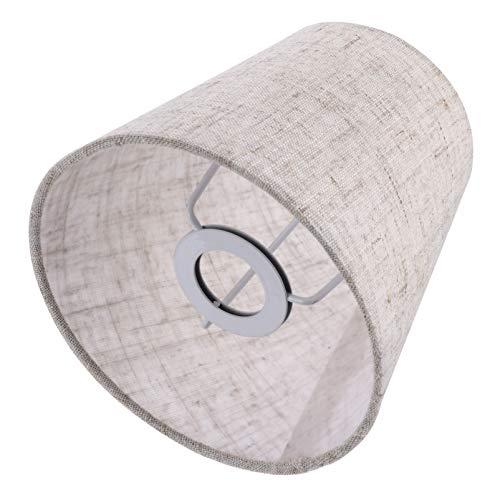 Luxshiny - Paralume in tessuto a bolla per tavolo, casa, hotel, ristorante (lino)