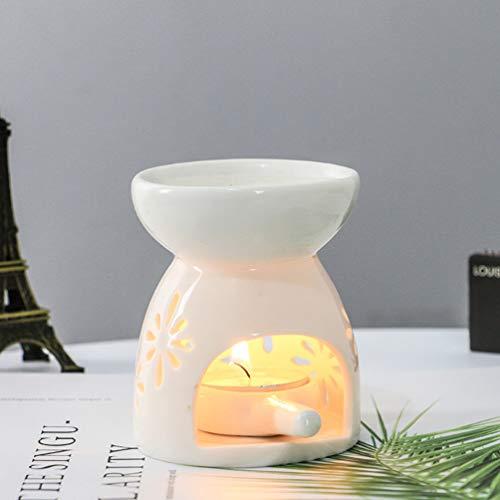 Mobestech 1 pz bruciatore a nafta in ceramica aromaterapia olio essenziale cera cera fondere candela aroma diffusore per home office camera da letto soggiorno