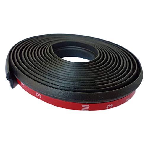 Coche Tiras de Aislamiento acústico Tipo Z Tiras a Prueba de Polvo Tiras de Sellado Puerta de Garaje Negro y Rojo