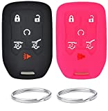 REPROTECTING Silicone Rubber Key Fob Cover Compatible with 2014-2021 Chevrolet Suburban Tahoe GMC Yukon Yukon XL HYQ1AA