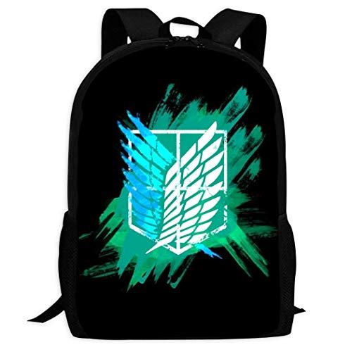 Kimi-Shop Attack-ON-Titans | Mochilas Escolares cómodas y Ligeras Mochila de Bolsillos múltiples para niños/jóvenes/niños/niñas