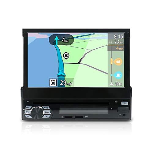 YUNTX Android 10 Universal Autoradio - GPS 1 Din - [2G+32G] - Telecamera Posteriore Gratuiti - Supporto DAB/DVD/CD/Bluetooth 5.0 / Controllo del volante / 4G / WiFi/MirrorLink