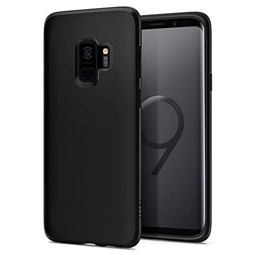 Spigen 592CS22825 Liquid Crystal Kompatibel mit Samsung Galaxy S9 Hülle, TPU Silikon Handyhülle Durchsichtige Schutzhülle Hülle Matte Black