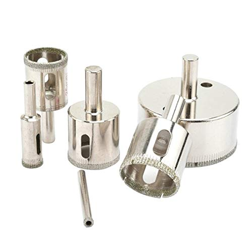 De múltiples fines 1 unids Diamond Drill Bit 25-100mm Herramientas de diamante Orificio Sierra Uso para azulejos de mármol de vidrio o granito-M25 Accesorios de herramientas de bricolaje para vidrio,