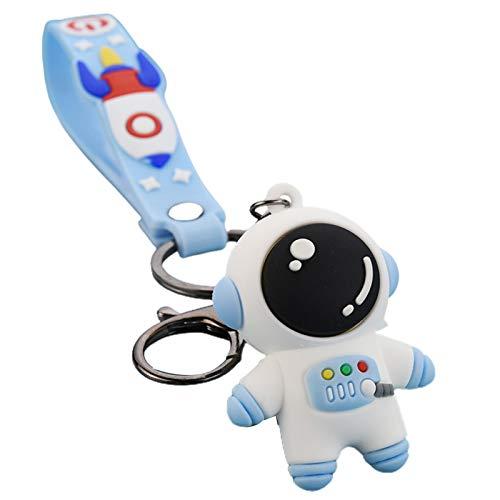 Asdf586io Cute and Charm Keychains, Cartoon Astronaut Design Doll Keychain Key Ring Bag Charm Pendant Decor Gift - Blue