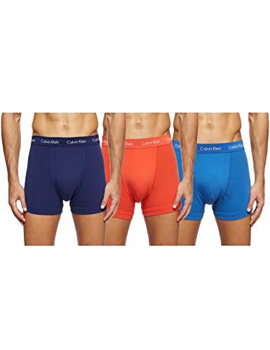 Calvin Klein Herren - 3er-Pack mittlere Taille Hüft-Shorts - Cotton Stretch, Mehrfarbig (Minnow/Horoscope/Inferno Weu), Medium