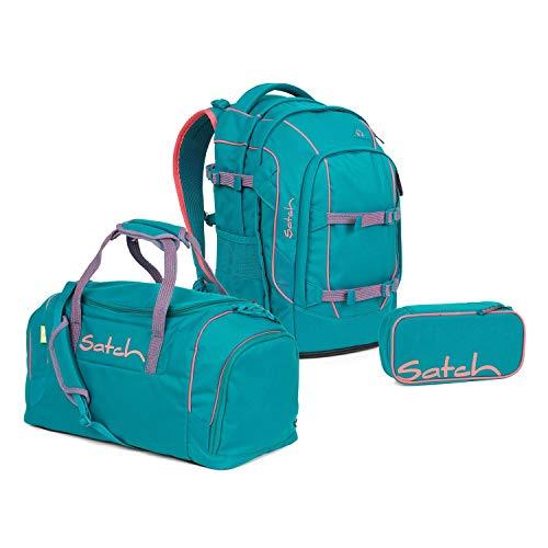 Satch Pack Schulrucksack Set 3tlg. (SchlamperBox und Sporttasche) (Pack Ready Steady)