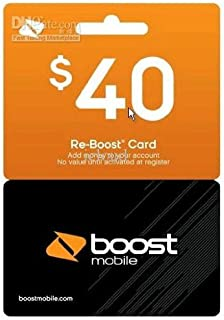 Boost Mobile $40 Reboost Refill Card