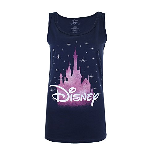 Disney Castle Camiseta de Tirantes, Azul...