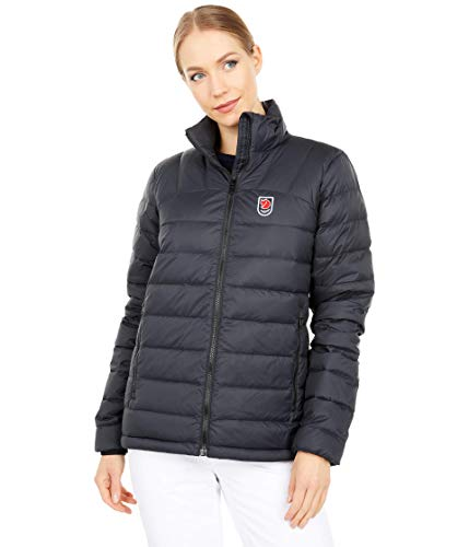 FJALLRAVEN Expedition Pack Down Jacket W Chaqueta, Mujer, Negro, XS