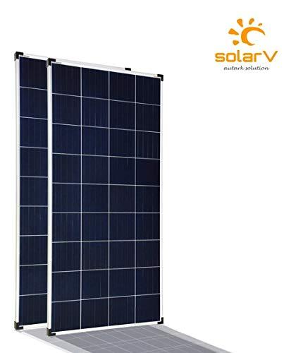 enjoysolar® Poly 100W Polykristallines Solar panel 100Watt ideal für Wohnmobil, Gartenhäuse, Boot … (Doppelpack)