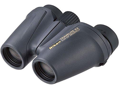Nikon Travelite EX - Prismáticos (Prisma de porro, Impermeables, Lentes asféricas), Color Negro