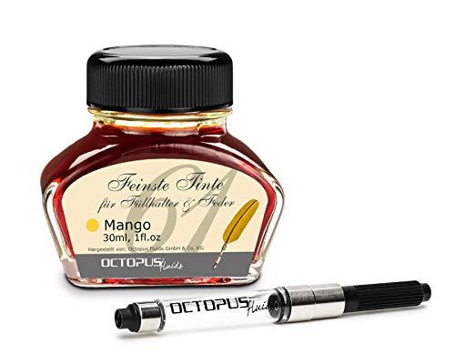 Octopus Fluids Mango - tinta para escribir con convertidor incluido, tinta para pluma estilográfica, 30 ml Naranja