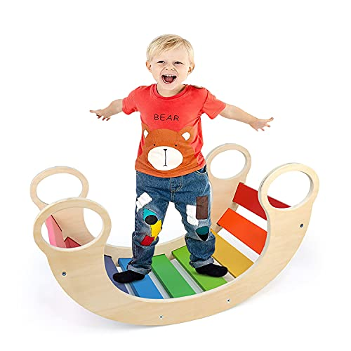 Indoor Klettergerüste für Kinder, Kletterbogen, Bunte Kinder-Bogenwippe aus...