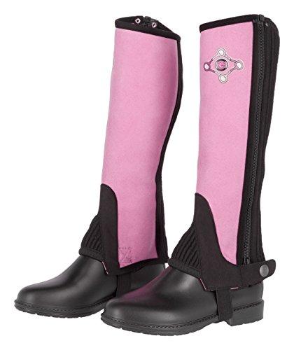 Covalliero Kinder Kinderminichaps Lilli Black/pink, Größe 128 Chaps