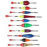 Keenso 10 Piezas Flotadores de Pesca, Bobber de Pesca, Boyas de Señalización para Pesca
