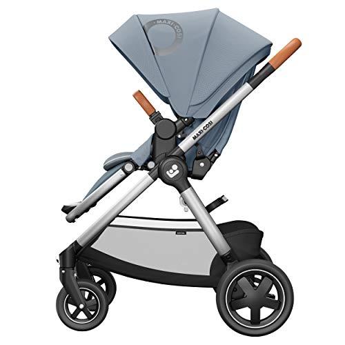 Maxi-Cosi Adorra² Kinderwagen, komfortabler, zusammenklappbarer Kombi-Kinderwagen mit Einkaufskorb und mehreren Sitzpositionen, nutzbar ab Geburt bis ca. 4 Jahre (0-22 kg), essential grey, grau