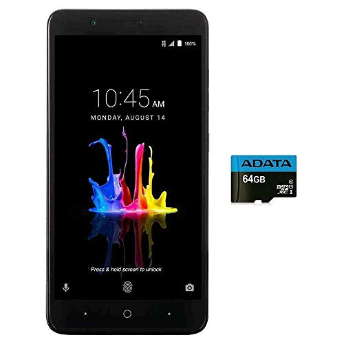 ZTE BLADE Z MAX Z982 (32GB, 2GB RAM) 6.0' Full HD Display, Dual Rear Camera, 4080 mAh Battery, 4G LTE GSM Unlocked Smartphone w/ US Warranty (Black) (Renewed)