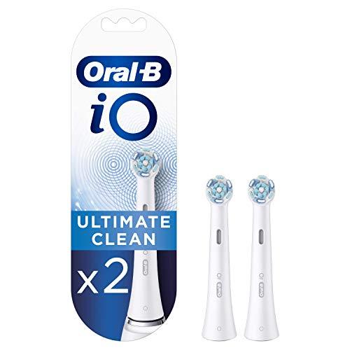 Oral-B iO Ultimate Clean - Testine di ricambio bianche - Confezione da...