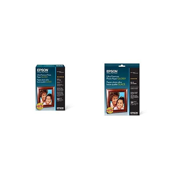 Epson Ultra Premium Photo Paper Glossy – S042174, 4″ x 6″ (100...