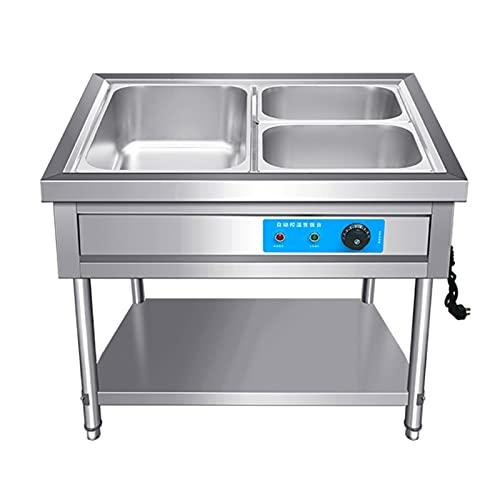 YQJY Chafing Dish Calentador De Buffet Conjunto De Platos De Chorro De Acero Inoxidable con Tapa Visible Servidores De Buffet Comercial Calentadores para Mantener La Comida Caliente 20-100℃