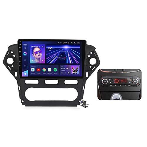 W-bgzsj Android 10.0 GPS Car Stereo, Radio para Ford Mondeo 4 2010-2014 Unidad de Cabeza de navegación MP5 Multimedia Player Video Receptor con 4G / 5G WiFi DSP RDS FM MirrorLink
