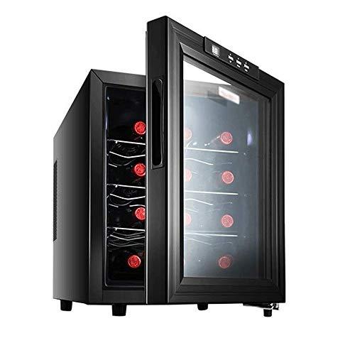 CHENMAO Multifuncional refrigerador de Vino Independiente, con Temperatura y Humedad constantes, de Doble Capa Hueco Templado Puerta de Cristal