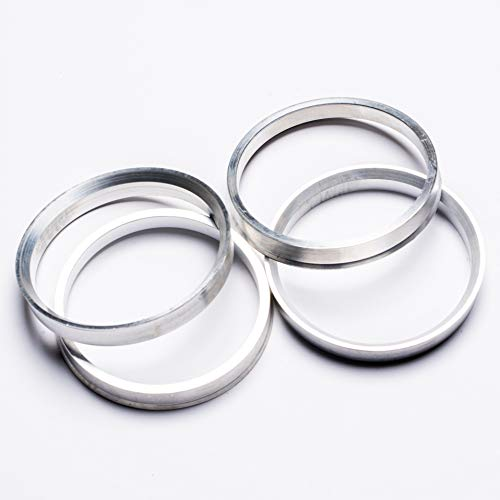 4 Pieces Aluminum Hub Centric Rings for BMW 74.1mm OD to 72.6mm ID