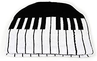 Music Piano Keyboard Beanie Ski Hat Cap