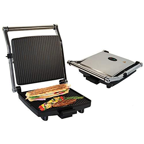 JHDUID Elektrische Sandwichherstellungsmaschine Toastbrot Panini Maschine Antihaft-Toaster Backen Multifunktionssteak Elektrische Pfanne Bratofen Grillherstellung