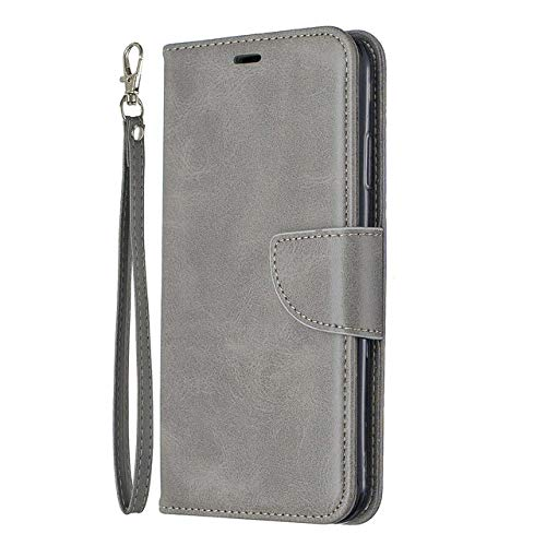 OPXZPM Carcasa de telefono Funda de Cuero Billetera. para iPhone 6S 7 8 Plus X XR XS MAX Funda para iPhone 11 Pro MAX Funda con Tapa, Gris, para iPhone 8 Plus