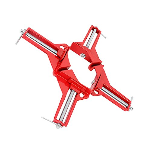B Blesiya - 2 collares de esquina en ángulo recto con marco de 90 grados, 3 pulgadas de capacidad