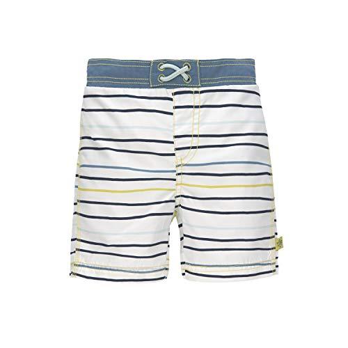 LÄSSIG - UV-Badehose für Jungen mit Windel - Streifen - Mehrfarbig