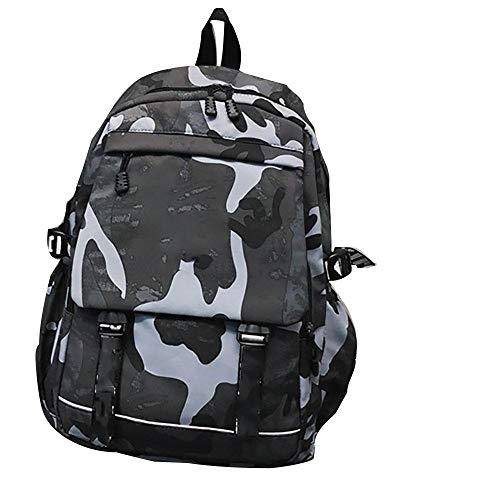 N/D Mochila De Camuflaje Casual Resistente Al Agua Y Duradero Mochila Backpack para El Laptop para Ordenador del Negocio Trabajo Diario Gris