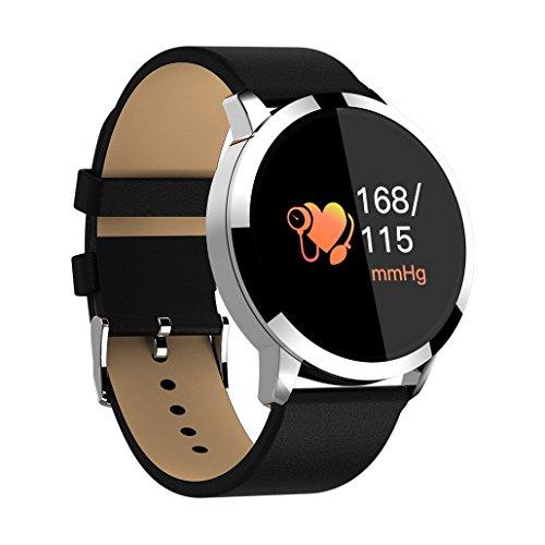Premewish Fitness Smartwatch,Bluetooth Smart Watch Uhr mit Pulsmesser Wasserdicht IP67 Fitness Tracker Schrittzähler Schlafmonitor für Android und iOS (Schwarz 2)