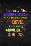 Hexagonal Graph Paper Family Halloween Quote With Witch Devil Spider Web Graphic