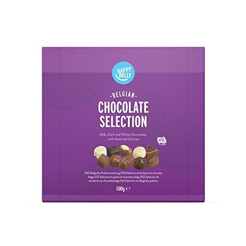 Marca Amazon - Happy Belly - Selección de bombones de chocolate belga 500g